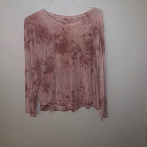 American Eagle Pink Smoke Long Sleeve-Large